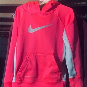 Girl's Nike Therma Fit Pink Hoodie w/Front Logo XS